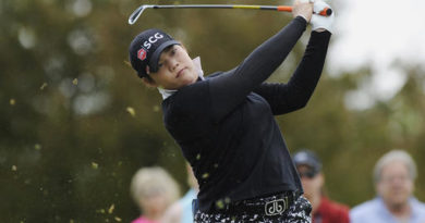 FILE - In this May 29, 2016, file photo, Ariya Jutanugarn, of Thailand, hits from the second tee during the final round of the LPGA Volvik Championship golf tournament at the Travis Pointe Country Club, in Ann Arbor, Mich.  This would have seemed to be a highly unlikely scenario a few months ago, but Ariya Jutanugarn has arrived at the LPGA season-ending CME Group Tour Championship as the leader for both the yearlong points chase called the Race to the CME Globe and the season's money title. A five-time winner this season, Jutanugarn will also clinch player of the year unless world No. 1 Lydia Ko prevails this week. (AP Photo/Jose Juarez, File)