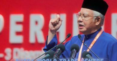 KUALA LUMPUR 01 DECEMBER 2016. Presiden Umno Datuk Seri Najib Razak menyampaikan ucapan dasar pada Majlis Perasmian Perhimpunan Agung Umno Ke-70 di Pusat Dagangan Dunia Putra (PWTC). NSTP/ ABDULLAH YUSOF