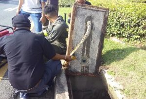 snake-stuck-in-pattaya-manhole-cover-1