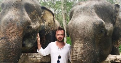 Actor Aaron Paul at Phuket Elephant Sanctuary