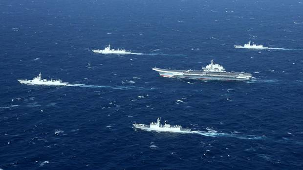 chinese-aircraft-carrier-and-flotilla