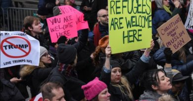 Travel ban protest in US January 29, 2017