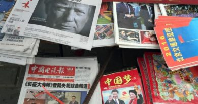 US President Donald Trump in Chinese newspapers