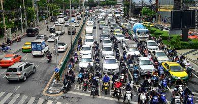 Bangkok traffic congestion