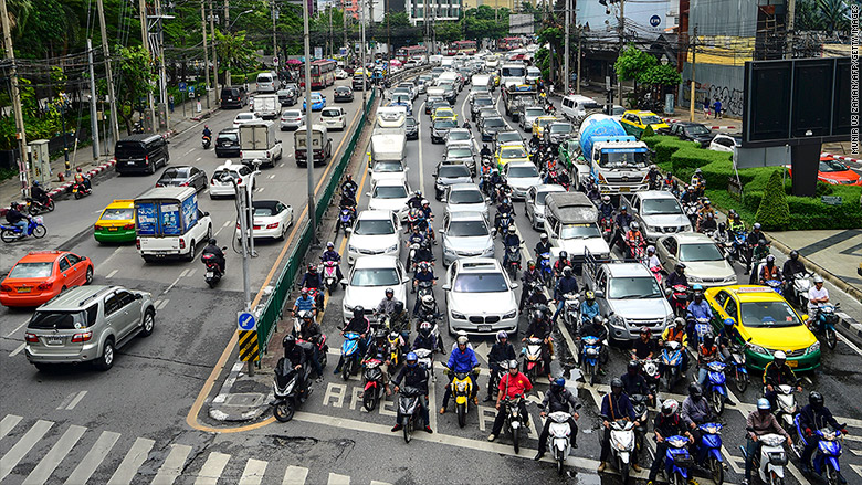 Bangkok traffic congestion