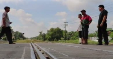 Level crossing at Songkhla