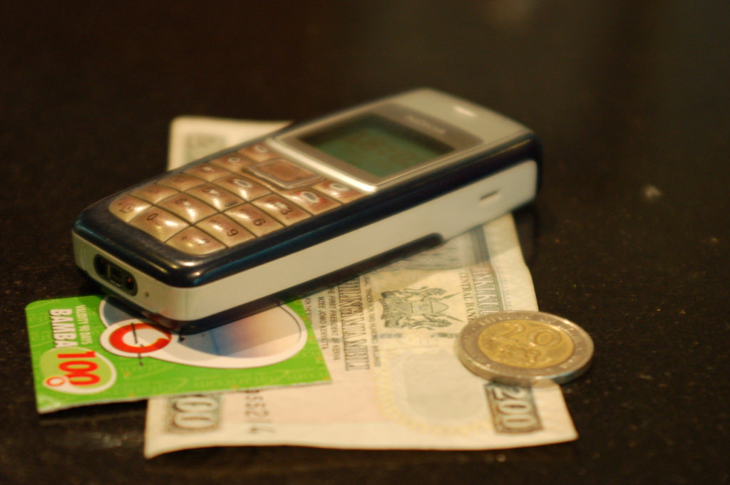 Mobile phone with money