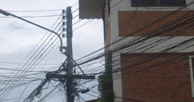 Street power lines in Chiang Mai