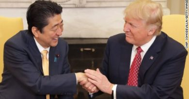 US Presiddent Trump and Japanese Prime Minister Abe
