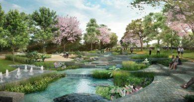 Bangkok's new Chamchuri Park