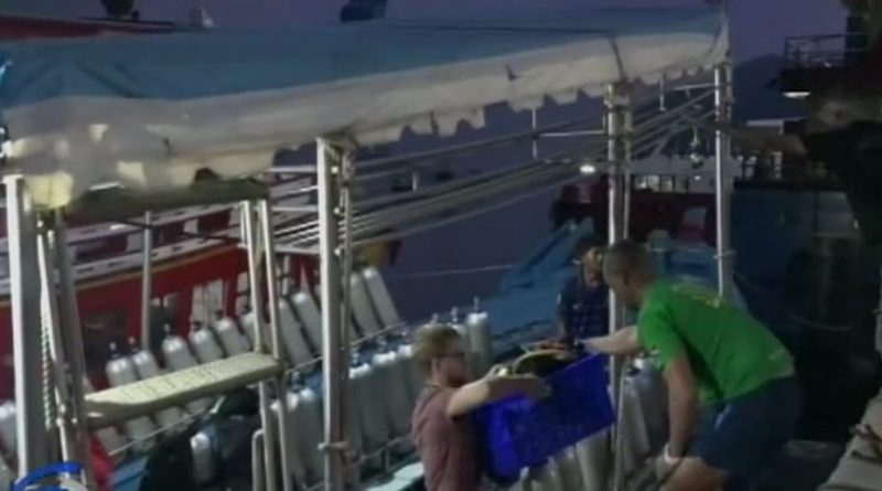 Boats loaded with oxygen tanks search for Russian woman