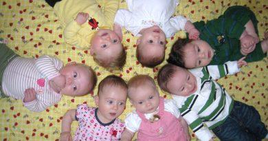 Cute babies in a circle