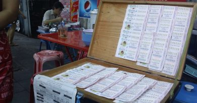 Lottery tickets for sale in Thailand