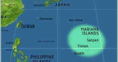 Map of Tinian Island