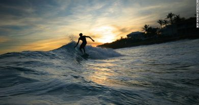 Surfing at Koh Payam, Thailand