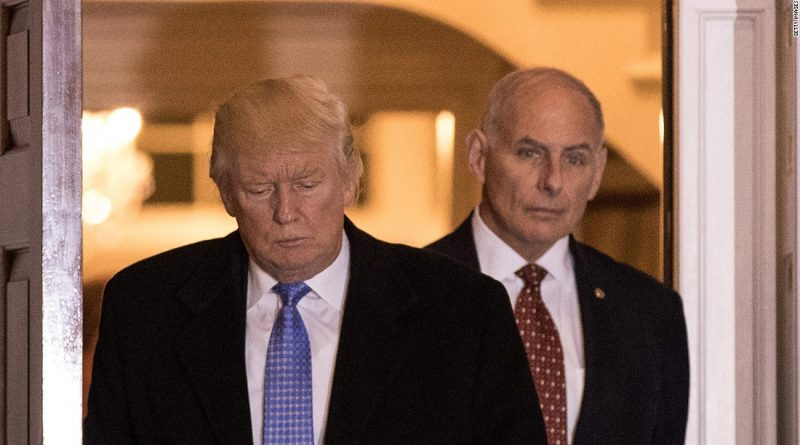 US President Donald Trump with Secretary of Homeland Security John Kelly