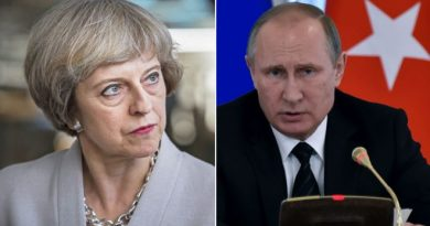 British Prime Minister Theresa May and Russian President Vladimir Putin