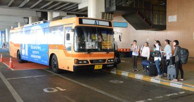 Bus leaving Don Mueang Airport