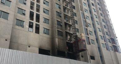 Condo building fire