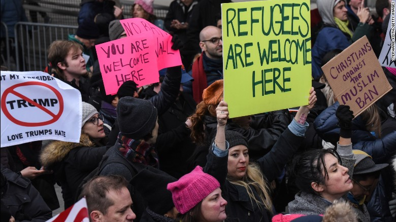 Immigrants and supporters protest in US