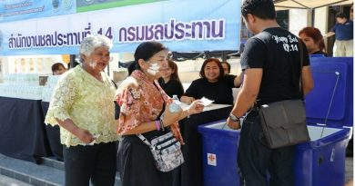 Royal Irrigation Department's Songkran Service Center