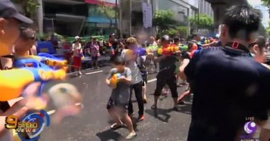Songkran on Silom Road