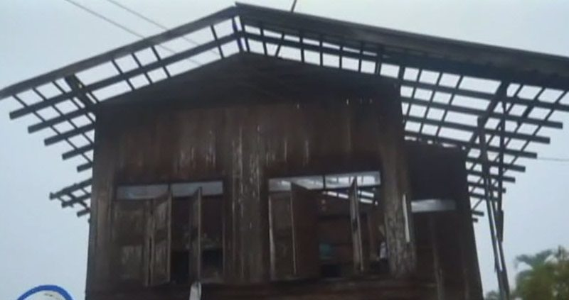 Storm destroys Chiang Mai house
