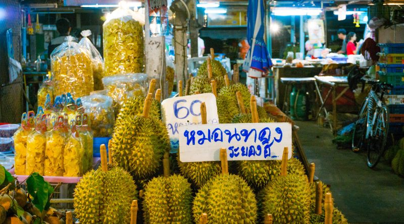 Durian for sale in Rayong