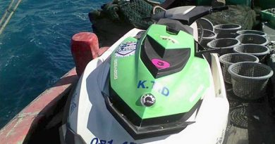 Jet-ski used by missing tourist