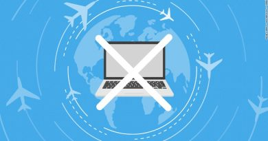 Laptop ban on flights graphic