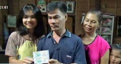 Lottery winner in Thailand