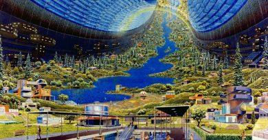 Mars colony art