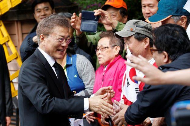 New South Korea president Moon Jae-in