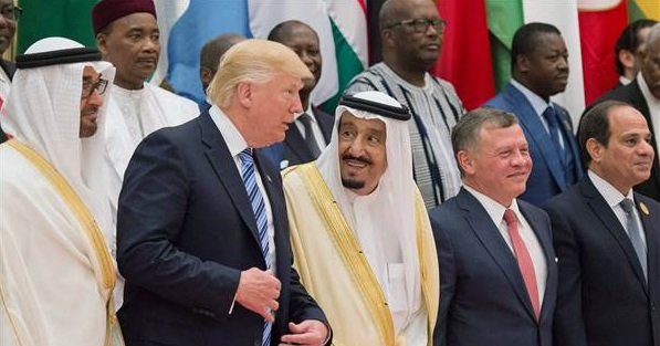 Saudi King with US President Trump