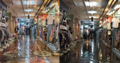 Siam Square flooded, one