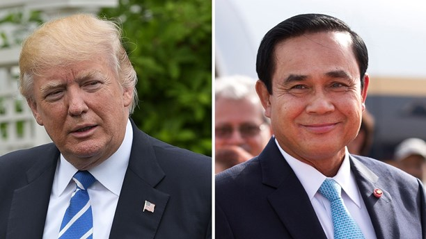 US President Donald Trump and Thai Prime Minister Prayut Chan-o-cha