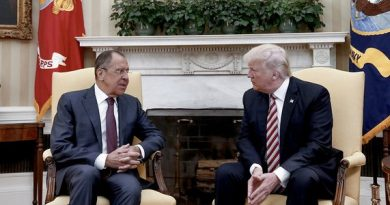 US President Trump with Russian Foreign Minister