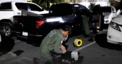 Explosive ordnance disposal unit working in Chonburi