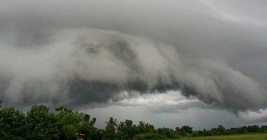 Huge dark cloud bank
