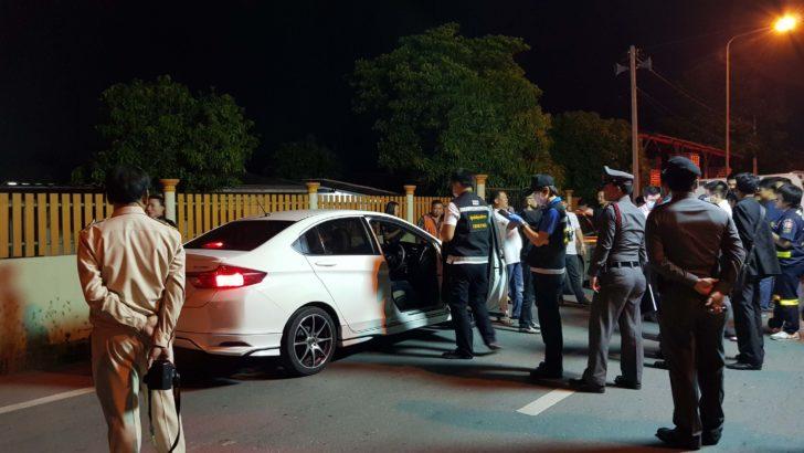 Money lender shot dead, his car