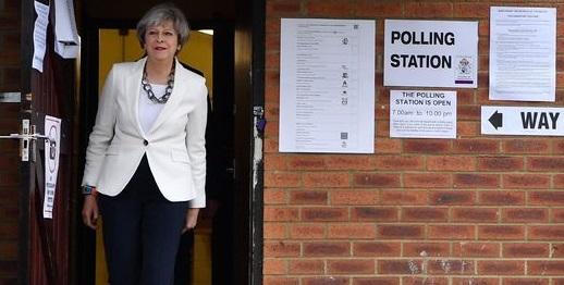 Theresa May voting June 8, 2017