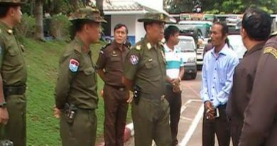 Myanmar general in Thai border town