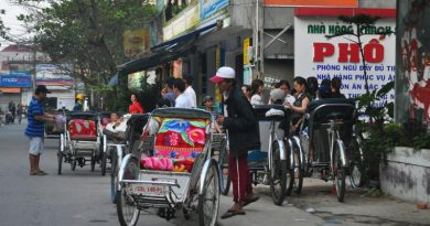 New,Vietnamese cycle rickshaws