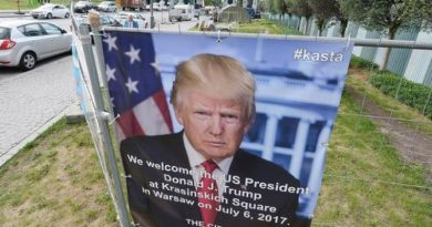 Poster of US President Trump in Poland