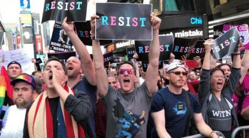 Trump's transgender policy protest
