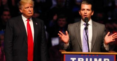 US President Trump and son Donald Trump Jr