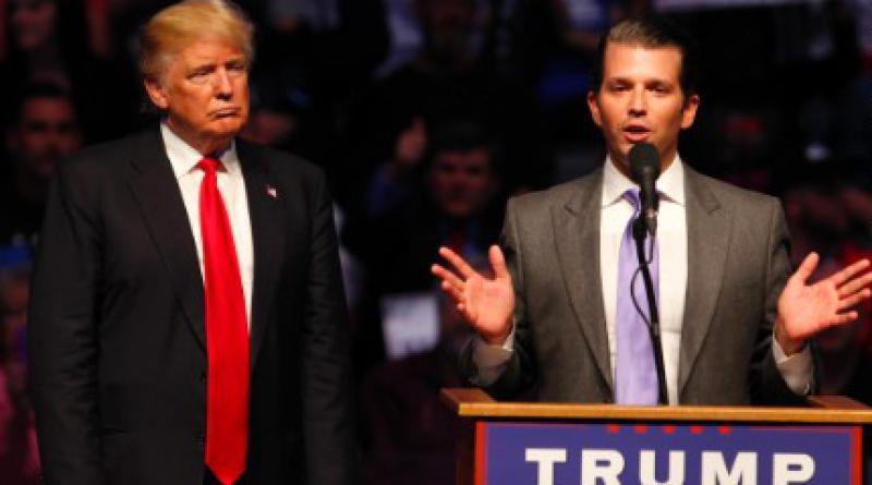 US President Trump and son Donald Trump Jr
