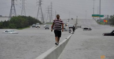 Stranded motorist tropical storm Harvey