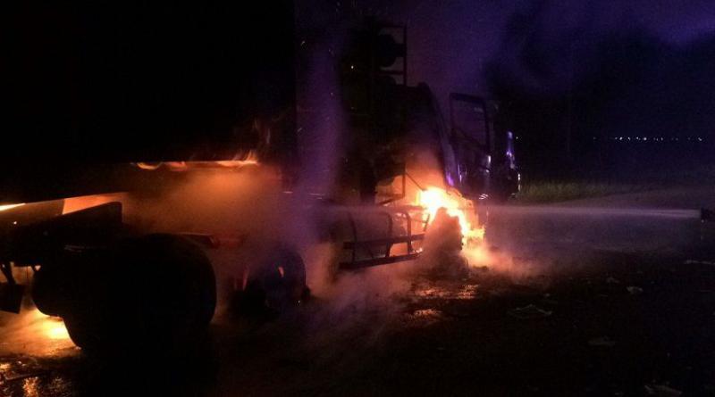 Trucks collide,resized