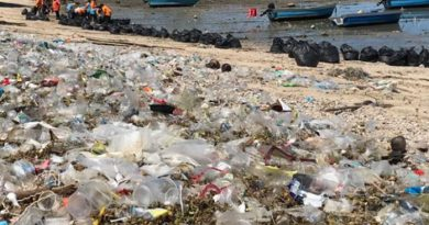 Pattaya trash on beach